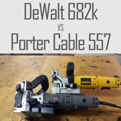 Head To Head Plate Joiner Review: DeWalt 682k Vs. Porter Cable 557
